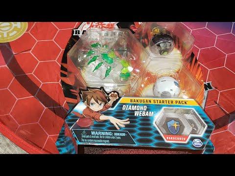 Bakugan Battle Planet Diamond Webam Three Pack Opening