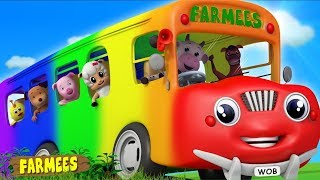Wheels On The Bus | Baby Songs & Nursery Rhymes | Cartoon Videos for Children