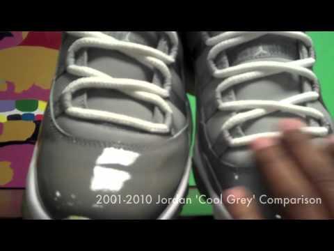 628b4e80b05 Cool Grey Air Jordan 11 2001 vs 2010 Comparison by Sneaker Dave ...