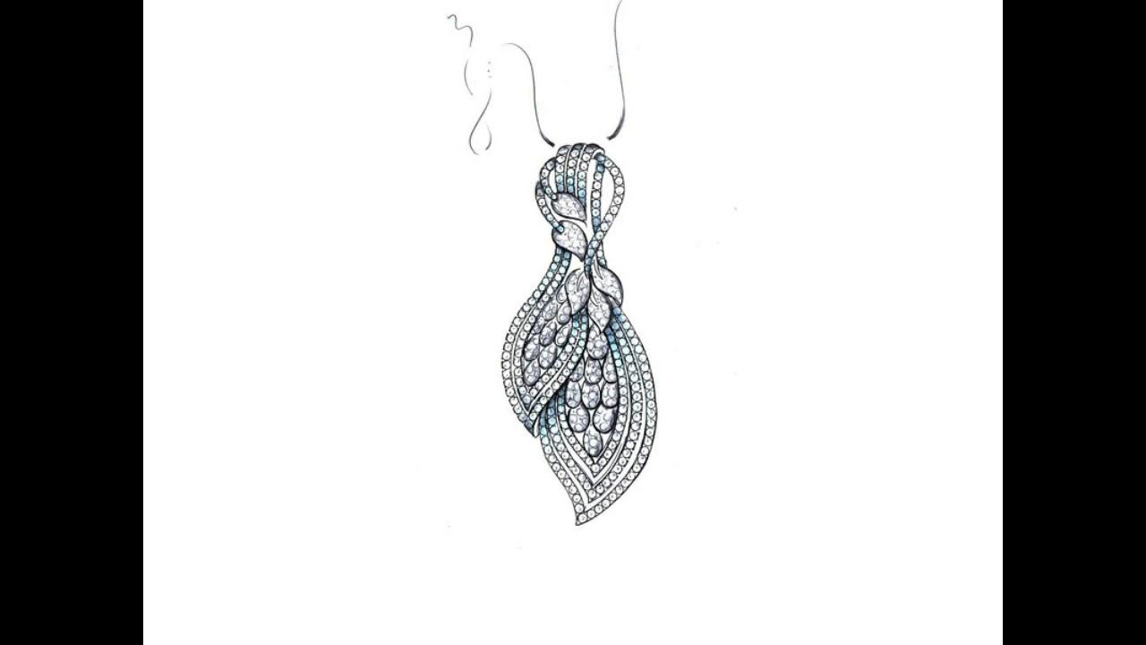 Diamond jewellery designs hand drawing diamond jewellery designs pencil sketching on youtube