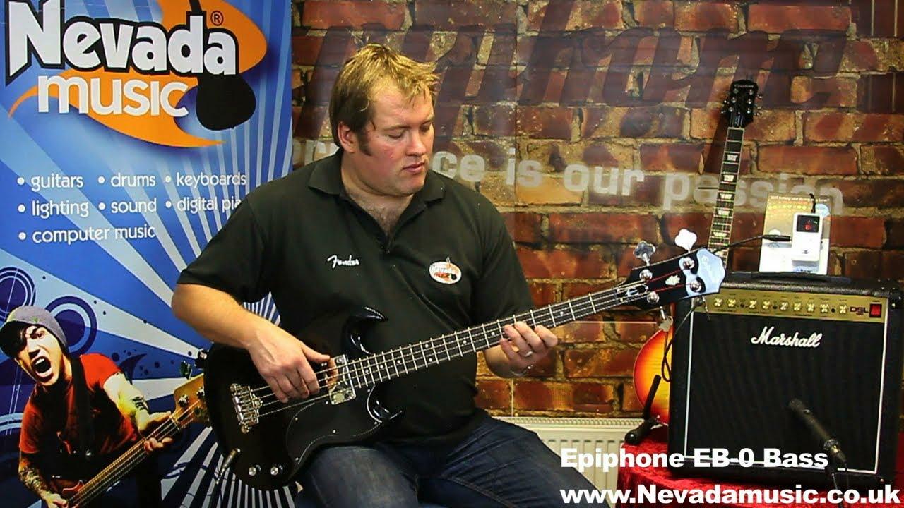 gibson sg epiphone capacitor start run motor wiring diagram eb-0 bass guitar demo @ nevada music uk - youtube
