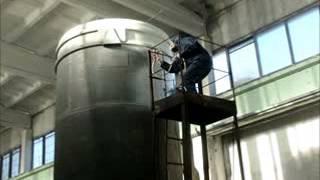 Покраска металлоконструкции эмалью Индосингл ПУ-80.(http://prompokraska.dschel.ru/ Покраска металлоконструкции (силос). Металлоконструкция предварительно отпескоструена...., 2015-03-19T19:58:34.000Z)