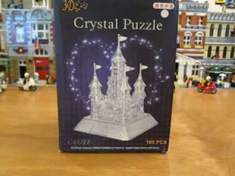 3d Crystal Castle Puzzle Unboxing Youtube