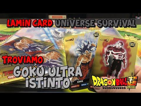 N° 7 GOKU ULTRA ISTINTO Dragon Ball Super UNIVERSE SURVIVAL Lamincards Diramix