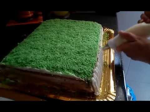 Tarta con decoracion de futbol youtube for Decoracion tartas infantiles