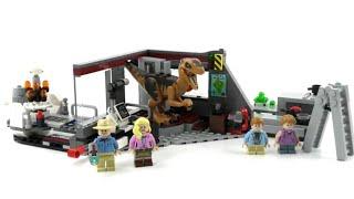 LEGO Jurassic Park / World Set 75932 Jagd auf den Velociraptor / Review deutsch