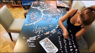 Ravensburger Astrology 9000 pieces puzzle - Time lapse thumbnail