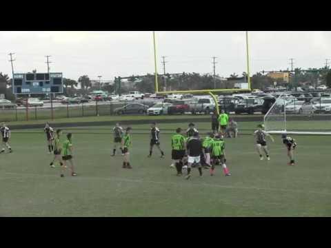 Okapi Wanderers Rugby FC U15 vs Wellington Wizards U15 01 27 2018 at Emerald Cove Middle School.