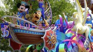 東京ディズニーランド35周年の祝祭感溢れる華やかなお昼のパレード、ド...