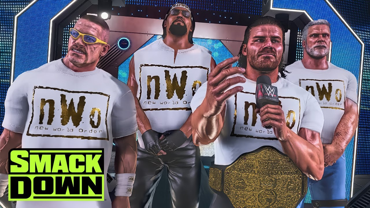 John Cena Patches Great Khali into The nWo (WWE 2K Story)