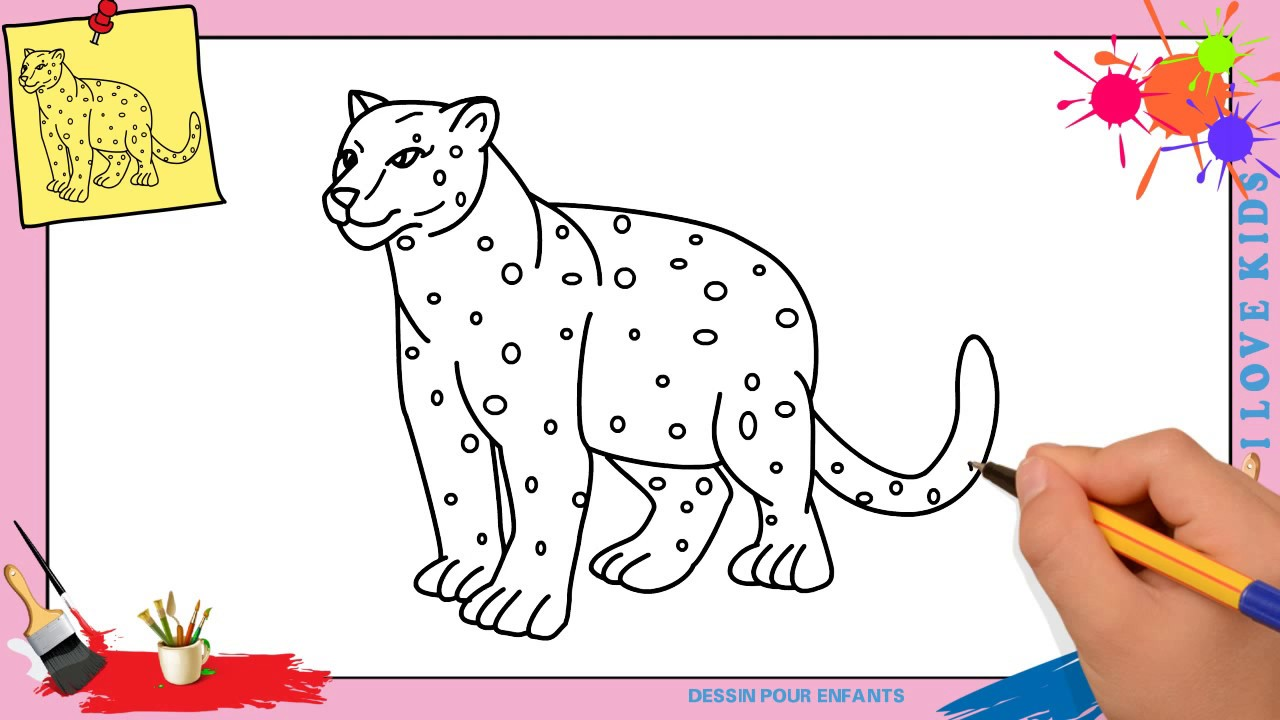Dessin l opard facile comment dessiner l opard facilement etape par etape youtube - Dessin de tigre facile ...