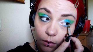 Lime-Green, Teal and White Eye Shadow Tutorial Thumbnail