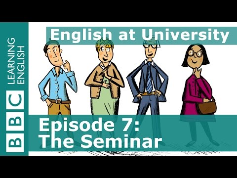 English at University: 7 - Learn phrases about getting yourself heard