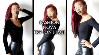 ALL BLACK FASHION NOVA TRY-ON HAUL | New York Fashion Week 2017