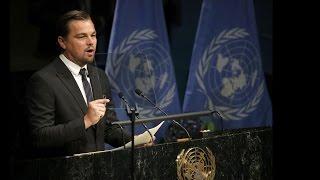 Leonardo DiCaprio delivers powerful climate change speech at UN
