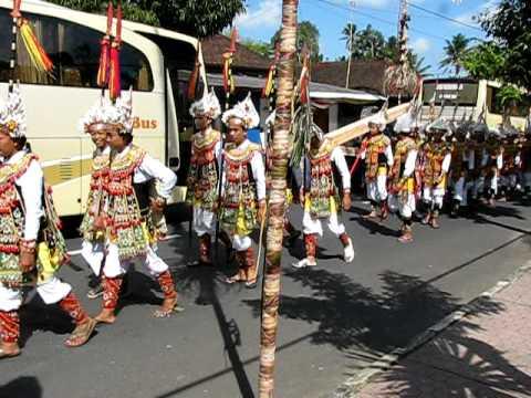 Hindu festival parade, near Ubud, Bali, Indonesia