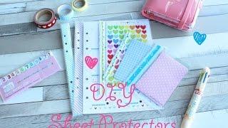 DIY Sheet Protectors - ♥ Pimp my Planner