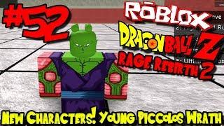 NUOVI PERSONAGGI! GIOVANE PICCOLO'S WRATH! Roblox: Dragon Ball Rabbia Rinascita 2 - Episodio 52