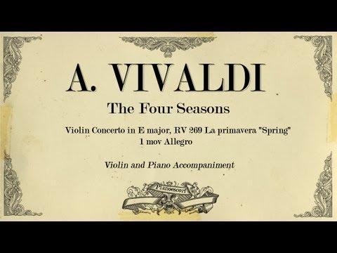 A.Vivaldi Violin Concerto in E major The Four Seasons (Spring) - 1 mov Allegro - Piano Accompaniment