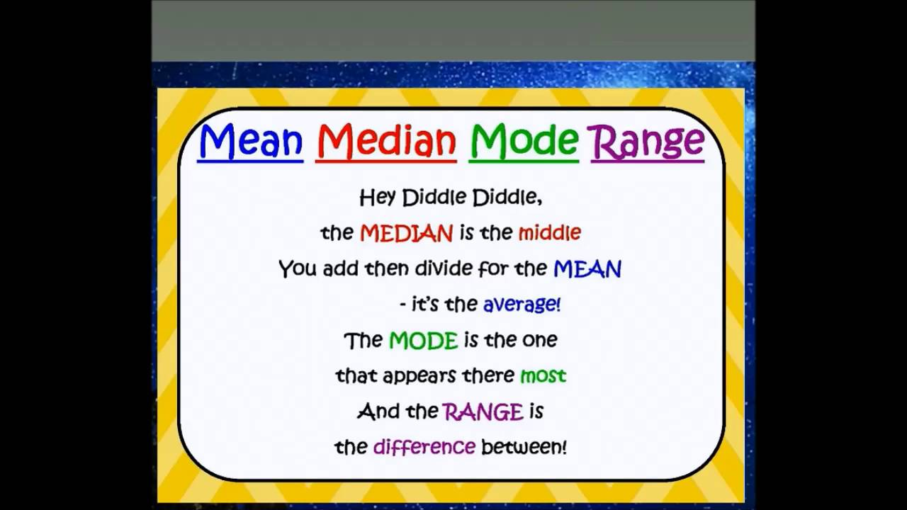 how to remember mean median mode range youtube