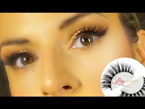 60d4c420e10 Lilly Lashes Review and Try on Tutorial - YouTube