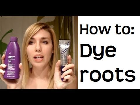 How to touch up your roots (& color your hair at home) - YouTube