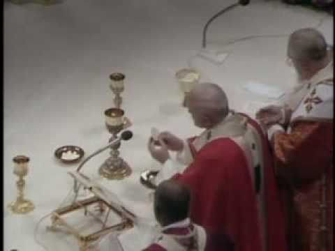 Pope John Paul II chants the Pater Noster - Il Papa Giovanni Paolo II canta il Pater Noster