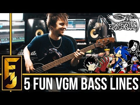 5 INSANELY FUN Video Game Bass Lines | FamilyJules
