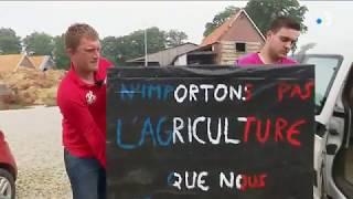 Les agriculteurs normands à l'assaut de la raffinerie Total