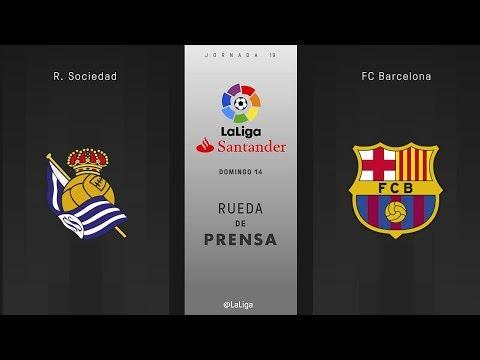 Rueda de prensa R. Sociedad vs Fc Barcelona
