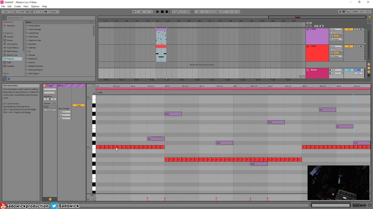 Ableton Live 10 - How The Multi Midi Editing Works