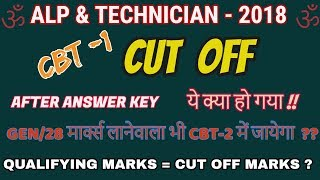 RRB ALP & TECHNICIAN CUT OFF MARKS IDEA AFTER RELEASING ANSWER KEY||100% EFFECTIVE ||