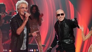 pitbull performs with reo speedwagon greatest hits
