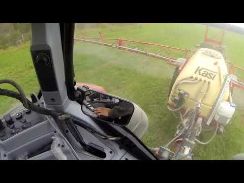 Valtra T214 auto-guide and a Kasi sprayer