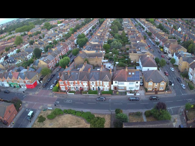 All Saints church Tooting Drone flyby 2/2