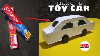 How to make a car // with Colgate box // best out of waste