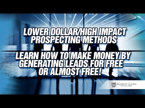 Lower Dollar/High Impact Prospecting Methods : California Broker's Business Accelerator