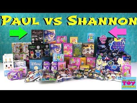 Paul Vs Shannon Blind Bag Picks Pusheen Wwe Mlp Disney