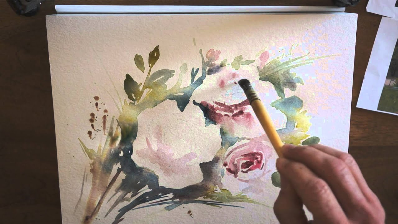 d mo aquarelle les roses watercolor tutorial youtube