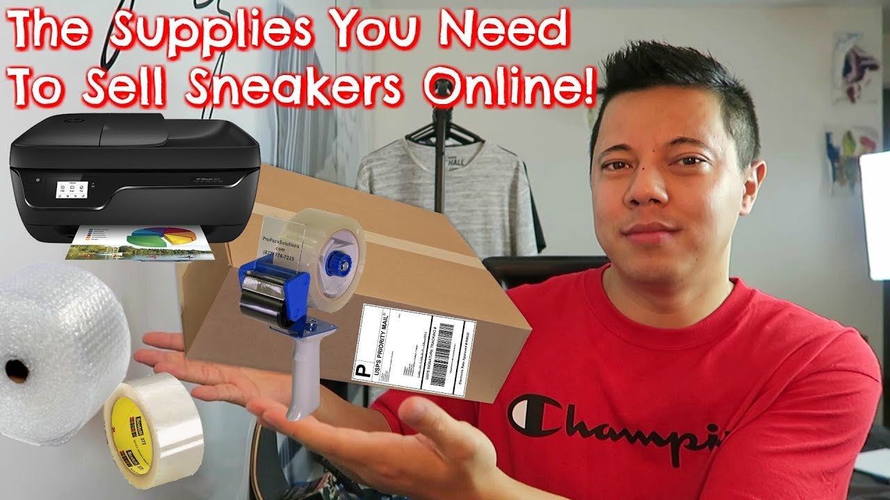 annonsera Besvikelse Pogo stick hoppa  The Supplies You Need To Sell Sneakers Online! (StockX, eBay, GOAT ...