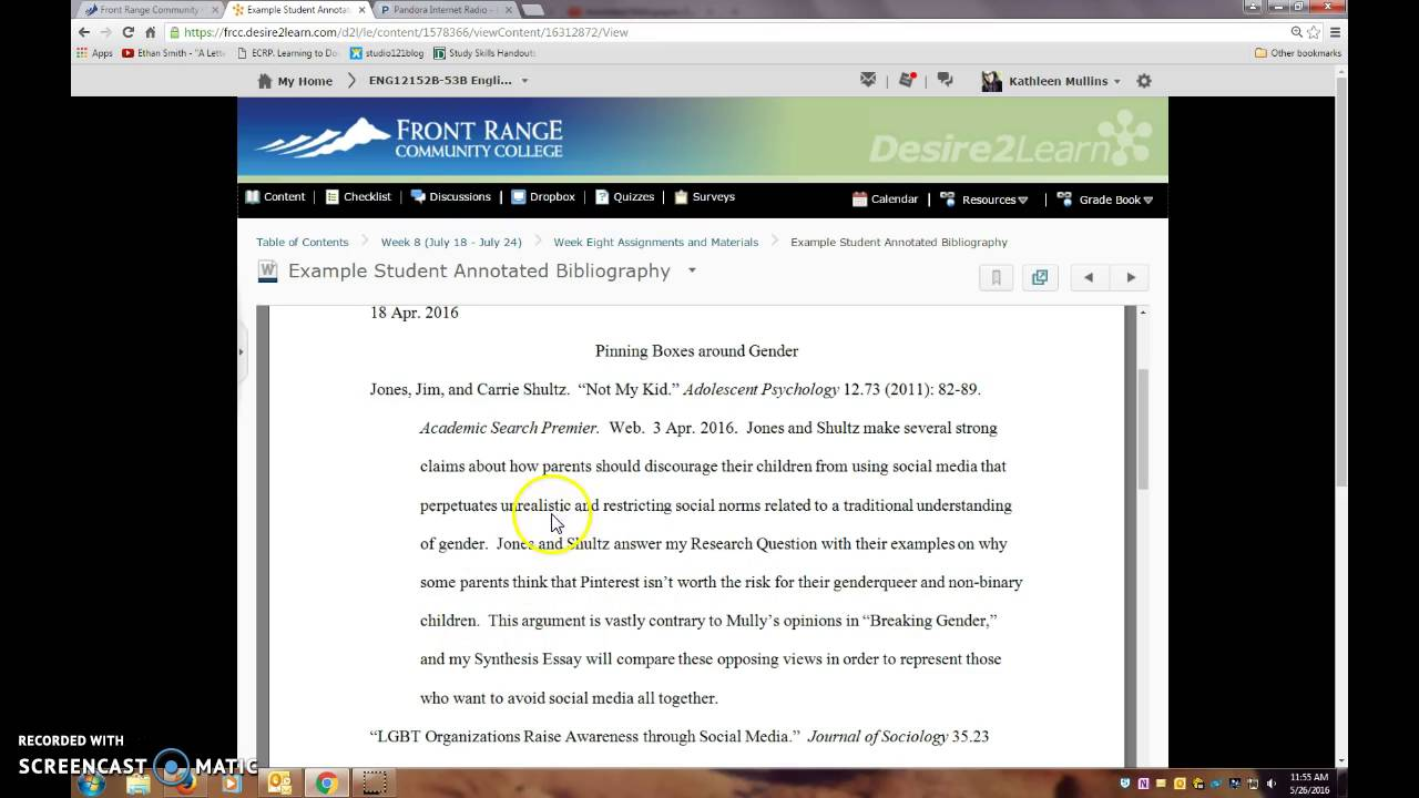 youtube annotated bibliography What is an annotated bibliography an annotated bibliography is an organized list of sources (like a reference list) it differs from a straightforward bibliography in that each reference is followed by a paragraph length annotation, usually 100–200 words in length.