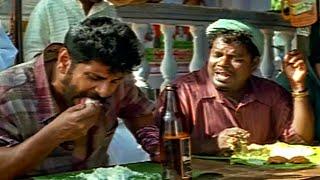 ဘီလူးနဲ့ idli စားနေတဲ့လူတစ်ယောက်ကိုတွေ့ဖူးလား။ poliswala gunda 3 ရုပ်ရှင်ရယ်စရာမြင်ကွင်းတစ်ခု