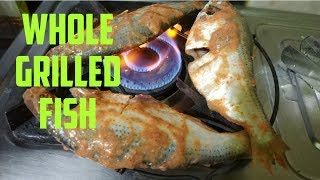 Whole Grilled Fish, Healthy and Tasty Recipe,OIL FREE recipes