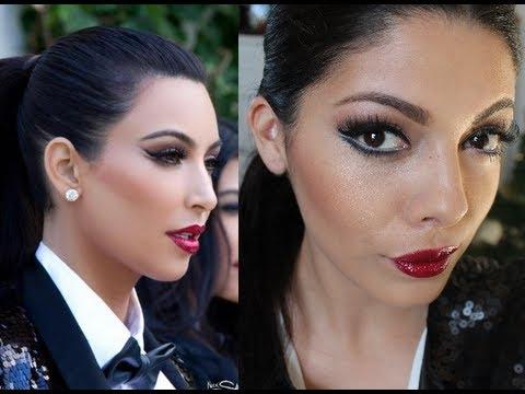 Kim Kardashian Christmas Card 2011 Makeup and Look for Less - YouTube