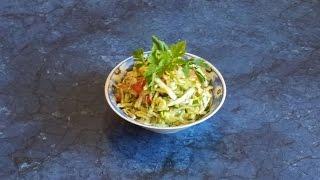 #Салат овощной на оливковом масле.#Видеорецепт.
