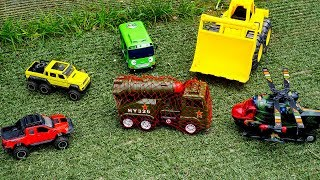 Helicopter, Excavator Truck Rescue Car Toys From Military Vehicles Car Toys Video For Chi ...