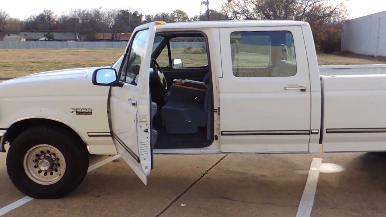 1992 ford f350 xlt crew cab 7 3 for sale walk around youtube. Black Bedroom Furniture Sets. Home Design Ideas