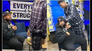 Blueface Almost Fights DJ Akademiks For Wearing His Chain