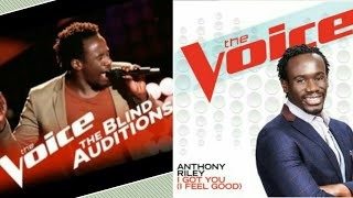 【HD】anthony riley i got you i feel good james brown the voice