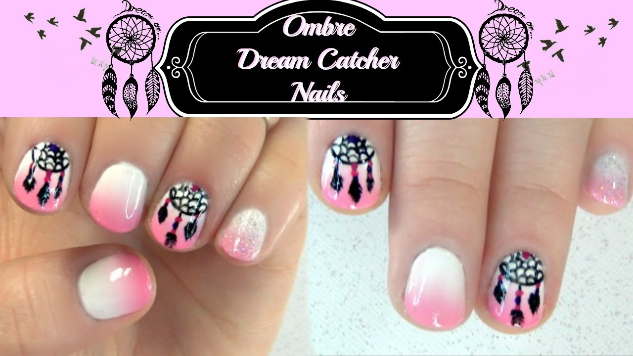Dream Catcher and Ombre Nail Art Tutorial - Dream Catcher And Ombre Nail Art Tutorial - YouTube